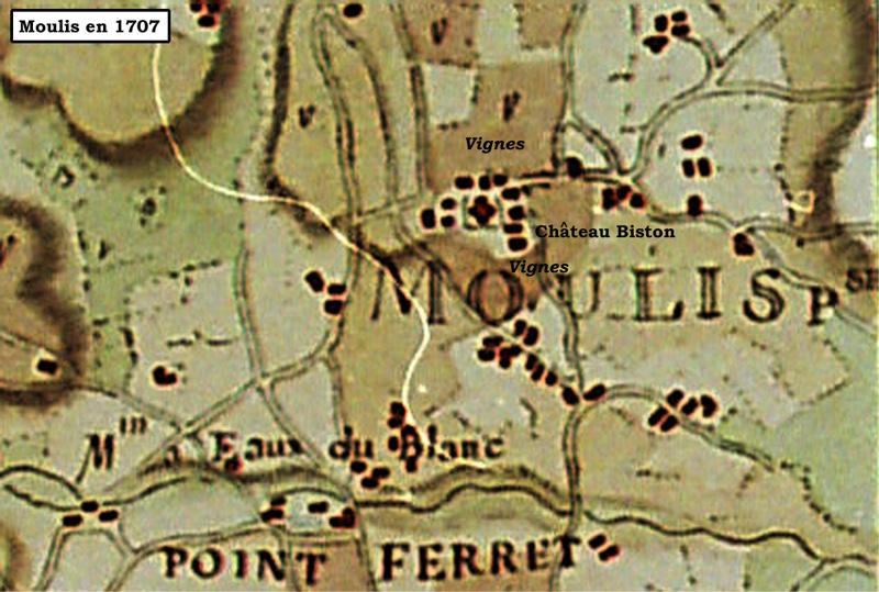 Moulis en 1707