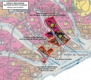 aperçu géologique secteur Petit Poujeaux